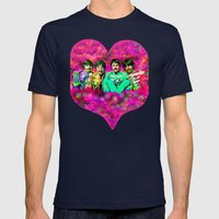 Sgt. Pepper's Lonely Hearts Club Band Mens Fitted Tee Navy SMALL