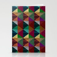 Cylinders and Bricks Stationery Cards