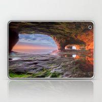 Sea Cave Sunset on Lake Superior Laptop & iPad Skin
