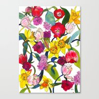 Tulips & Daffodils  Canvas Print