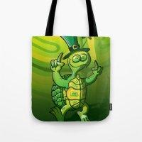 Saint Patrick's Day Green Turtle Tote Bag