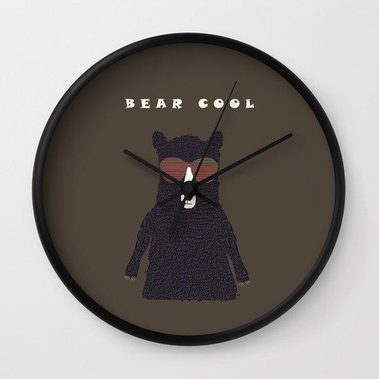 bear cool Wall Clock