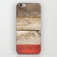 Wood, Wood, Red iPhone & iPod Skin