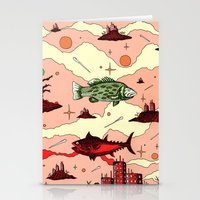 Galaxy Swimmers Stationery Cards