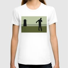 Walking Dead Womens Fitted Tee White SMALL