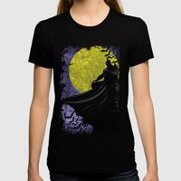 Guardian of the Knight  Womens Fitted Tee Black SMALL