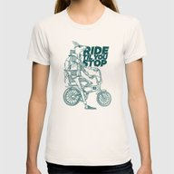 Ride Or Don't! Womens Fitted Tee Natural SMALL