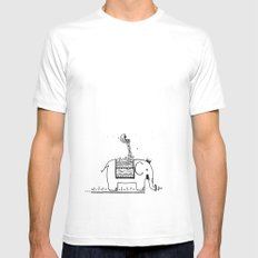 On My Elephant  Mens Fitted Tee SMALL White