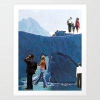 Walking On Ice Art Print
