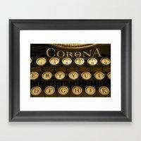 Corona Typewriter Framed Art Print