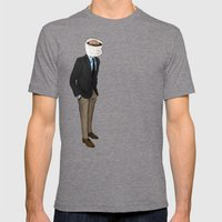 IT'S MORNING AND I THINK OF YOU Mens Fitted Tee Tri-Grey SMALL