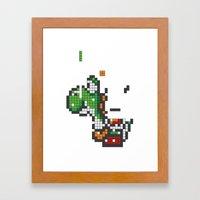 Yoshi Tetris Framed Art Print