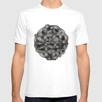 Drawing 6 White Mens Fitted Tee White SMALL