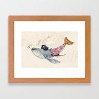 Pirate Whale Framed Art Print