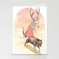 wolf and dear Stationery Cards