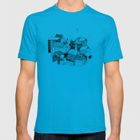 Book Town Mens Fitted Tee Teal SMALL