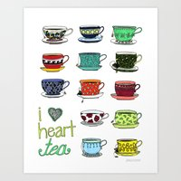 I Heart Tea Art Print