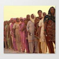 Bright India Canvas Print