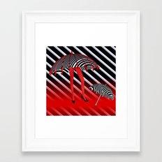 OpArt -9- the walking umbrella Framed Art Print