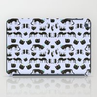 Crazy Cats with colorful hats, pattern iPad Case