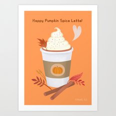 Pumpkin Spice Latte (orange)  Art Print
