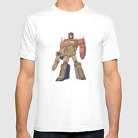 Optimus Prime Mens Fitted Tee White SMALL