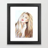 rosie huntington whiteley  Framed Art Print