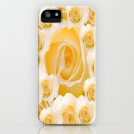 iPhone & iPod Case featuring Creamy Peach Rose Abstra… by Judy Palkimas