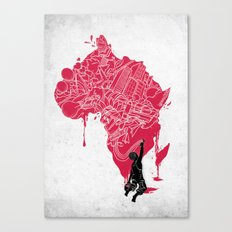 RE   Draw AFRIKA Canvas Print