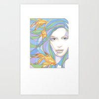 Mermaids are Dreaming Art Print