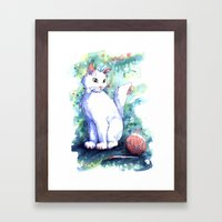 Playing Kitty Framed Art Print