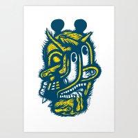 Diable déguisé en Mickey Art Print