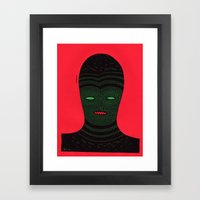 lino man Framed Art Print