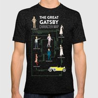The Great Gatsby Character Map Mens Fitted Tee Tri-Black SMALL