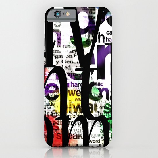 Abstract Text iPhone & iPod Case
