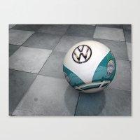 vw ball - aqua Canvas Print