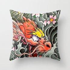 japanese dragon 2 Throw Pillow