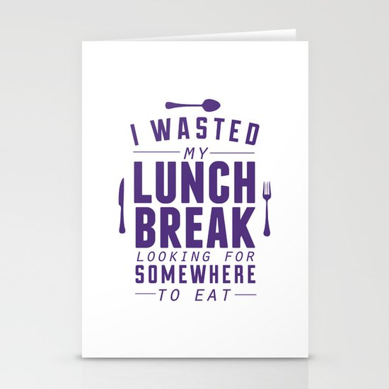 Lunch Stationery Card