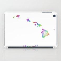 Rainbow Hawaii map iPad Case