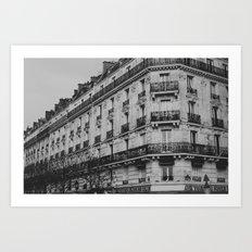 Bits of Paris Art Print