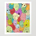 Faces of Math Art Print