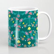 Folk Flowers Green Mug