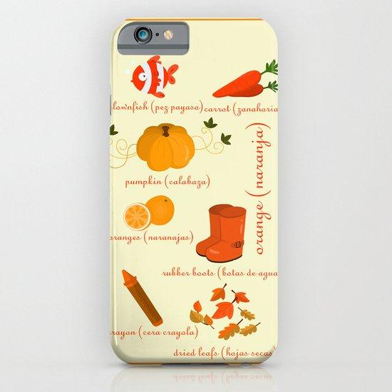 Colors: orange (Los colores: naranja) iPhone & iPod Case