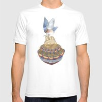 Quilted Bundles: The Bird II Mens Fitted Tee White SMALL