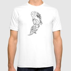 Owls SMALL Mens Fitted Tee White