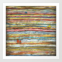 Three Junks Art Print