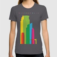 Shapes of Minneapolis Womens Fitted Tee Asphalt SMALL
