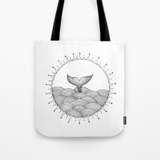 Whale In Waves Tote Bag