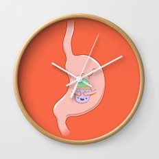 My Stomach Loves Cupcakes Wall Clock