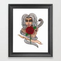 Zombie Girl. Framed Art Print
